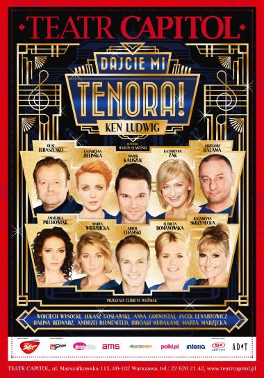 """Plakat spektaklu """"Dajcie mi tenora"""""""