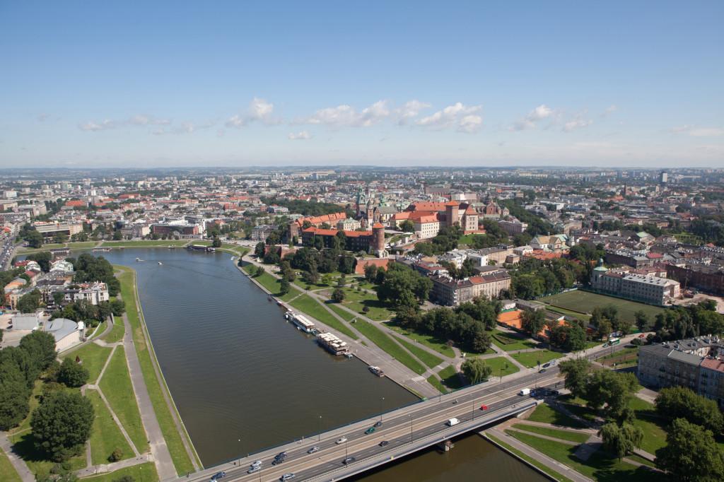 Polish city of Krakow Wawel Castle