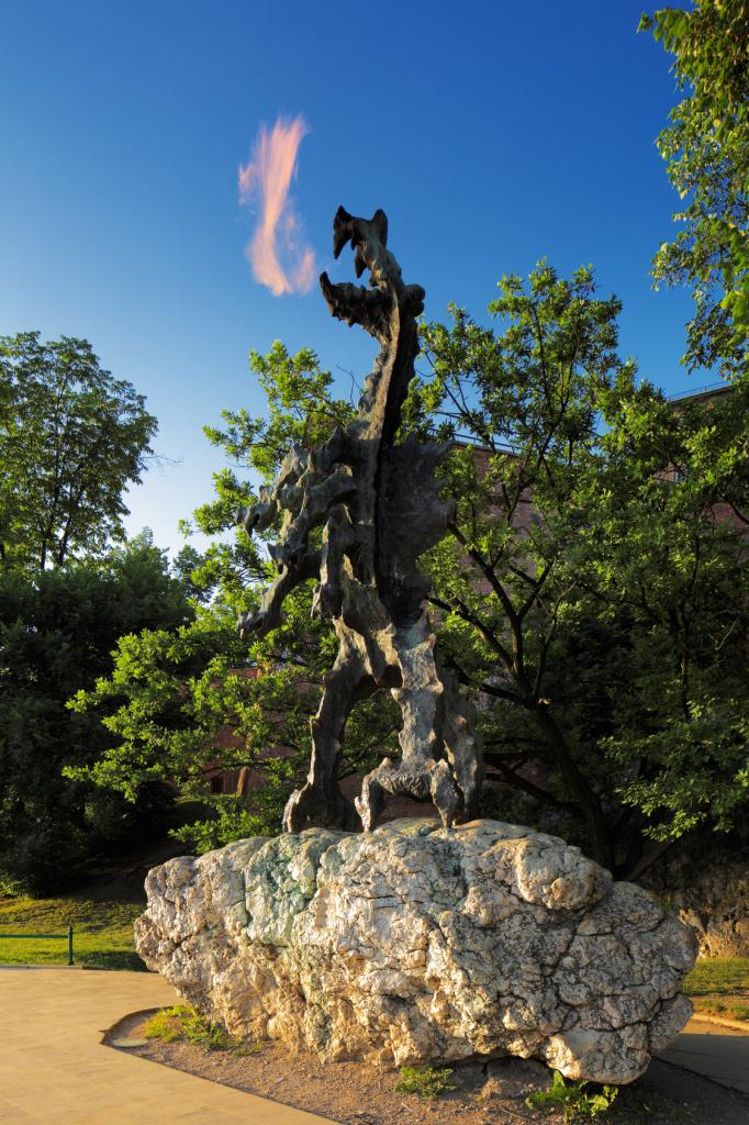 The Dragon of Wawel Hill next to Wawel Castle in Krakow, Poland
