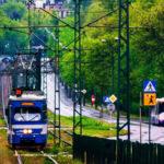 nowohucki plac centralny i tramwaj